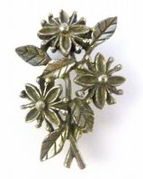 Vintage Small Rare Miracle Floral Design Brooch.